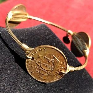 Bourbon & Bowties U.K. Coins Bracelet